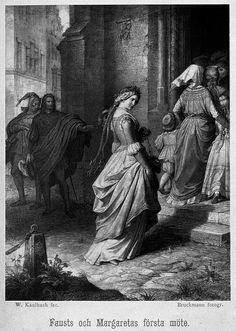 Illustration publicerad i Viktor Rydbergs Faust-översättning, av Wilhelm von Kaulbach.