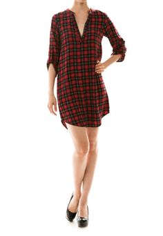 12.3.13 WOMEN'S CLOTHING OFFER. PLAID DRESS. $38 WITH FREE SHIPPING