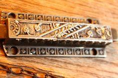 Early Cast Iron Victorian Eastlake Door Top Latch Dead Bolt Lock Spring w Chain