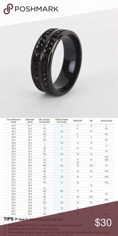 aba90bae42789f Men's Stainless Steel CZ Inlaid Band Black 10 This ring will be sure to  separate you