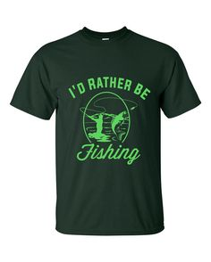 Fishing Tee Shirt  Father's Day Gift  I'd by ThePlaidAppleShop