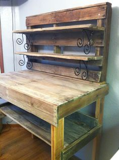 DIY pallet jewelry making work bench I made.