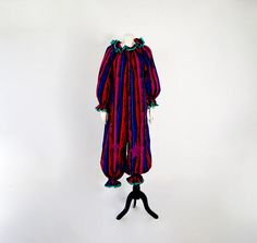 Vintage 1950s Theatrical Outfit Handmade 100% Cotton Harlequin