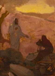 (Young) Woman at the Well Catholic Art, Religious Art, Spiritual Paintings, Pictures Of Christ, Lds Art, Jesus Painting, Bible Illustrations, Christ The King, Jesus Art