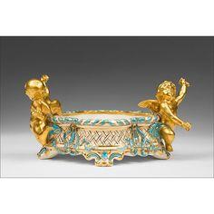 Copeland Spode Gilt Decorated Centre Bowl Antique Cameras, Objet D'art, Rococo, Bird Houses, Decorative Bowls, Glass Art, Lion Sculpture, Porcelain, Pottery