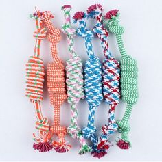 New Pet cotton Rope Dog Toy 27cm*3.3cm Pet Molar and Clean Teeth Toy Product