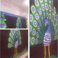 3D Peacock Bulletin Board