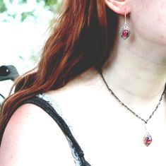 Dragon's Breath Necklace with Free Earrings Gorgeous Fall gift, Rush Week gifts Compass Necklace, Fire Opal Necklace, Opal Earrings, Unique Earrings, Vintage Earrings, Fall Gifts, Summer Gifts, Matching Necklaces, Rush Week