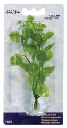 Plantas Plasticas Mini Ventosa Para Bettas Cardamine 10cm MARINA - #FaunAnimal
