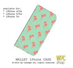 Vintage iPhone 5 wallet case palm tree iPhone 5 by WalletPhoneCase, $21.00