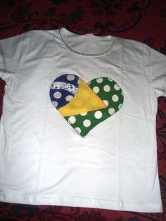 Camiseta Brasil Customizada by DenizeBotelho d6548b7111f2e
