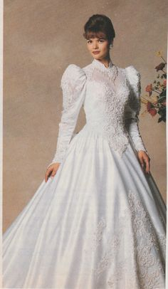 Bride..Wood Framed..Matted..1940..GORGEOUS WHITE GOWN
