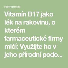 Vitamín B17 jako lék na rakovinu, o kterém farmaceutické firmy mlčí: Využijte ho v jeho přírodní podobě - ČeskoZdravě.cz How To Stay Healthy, Healthy Life, Nordic Interior, Health Advice, Health Goals, Health Fitness, Goju Ryu, Lifestyle, Anatomy