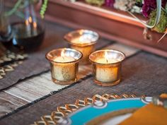 Make these mercury glass with just two steps and two ingredients. Get the how-to now.  (http://blog.hgtv.com/design/2013/11/21/home-for-the-holidays-seriously-easy-diy-mercury-glass-votives/?soc=pinterest-blogparty)