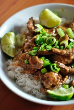 Thai Beef Oyster, Ginger and Lime Sauce - cedde 76 - Meat Recipes Meat Recipes, Asian Recipes, Cooking Recipes, Healthy Recipes, Ethnic Recipes, Cooking Bacon, Cooking Games, Thai Cooking, Asian Cooking