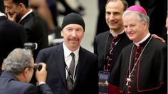 U2's The Edge became the first artist to ever stage a contemporary music concert inside Vatican City's historic Sistine Chapel Friday. Max Ross/Reuters