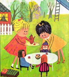 """""""Katy's First Day"""", Whitman Tell-A-Tale Book, 1962 (1972 Edition). Originally published under the title """"Katy Did""""    Story by Jean Conder Soule  Illustrations by Aliki"""