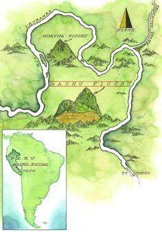 Machu Picchu Map by Mike Reagan