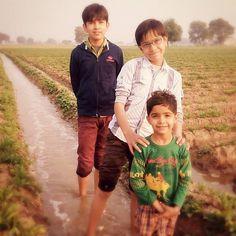 #brothers #kids #triple #three #village #farm