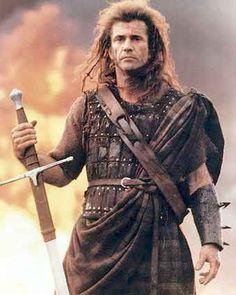 """William Wallace:  """"Aye, fight and you may die. Run, and you'll live... at least a while. And dying in your beds, many years from now, would you be willin' to trade ALL the days, from this day to that, for one chance, just one chance, to come back here and tell our enemies that they may take our lives, but they'll never take... OUR FREEDOM!"""""""