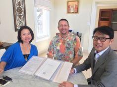 さとうあつこのハワイ不動産: お客様の日本の不動産購入契約の瞬間