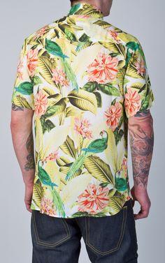 Cultizm.com - 1937 Roamer Shirt Short Sleeve Parrot Yellow Pike Brothers 1937 Roamer Shirt Short Sleeve Parrot Yellow P0402-15-0005
