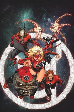"""SUPERGIRL #30 Written by TONY BEDARD Art by EMANUELA LUPACCHINO Cover by KENNETH ROCAFORT On sale APRIL 16 2014 In """"Red Daughter of Krypton"""" part 2 of 3, the newest, most powerful Red Lantern finally meets her match! Worldkiller-1 is a cosmic menace from the darkest recesses of Kara's past, and he will gladly destroy every one of her crimson teammates to get to her…"""