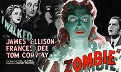 Film poster for I Walked With a Zombie Classic Horror Movies, Horror Films, Old Movies, Vintage Movies, Horror Posters, Movie Posters, Creepy Pictures, Beautiful Posters, Vintage Horror