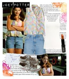 Joey Potter - Outfit Inspiration - Season 1 by vilena-ferreira on Polyvore featuring moda, Wolford, Topshop, Converse and Lord & Berry