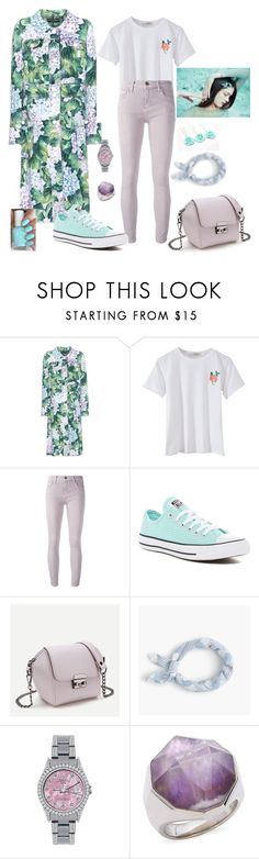 """best spring looks"" by loveazerbayjani ❤ liked on Polyvore featuring Dolce&Gabbana, Current/Elliott, Converse, J.Crew, Rolex and Michael Aram"