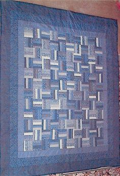 Rail Fence quilt, very simple and very pretty, love the colors.