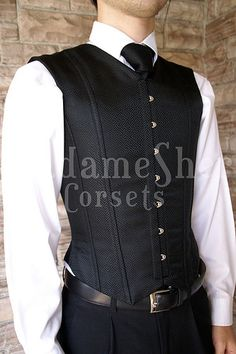 Male Corset by madamesher, via Flickr