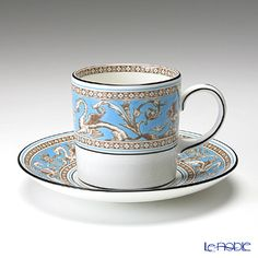 ウェッジウッド(Wedgwood) フロレンティーン ターコイズ コーヒーカップ&ソーサー(キャン)