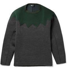 KolorPanelled Wool-Blend Sweatshirt