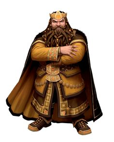 Male Dwarf Aristocrat Noble King - Pathfinder PFRPG DND D&D d20 fantasy