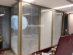 Glass System Wall 怡和大廈 (厚框雙層清玻璃屏風-內置百葉 Double Clear Glass Panel with blind) 2