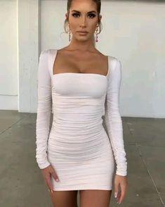Long Sleeve Club Dresses, Tight Dresses, Sexy Dresses, Short Dresses, Tight Long Sleeve Dress, Clubbing Dresses, Mini Dresses, Dress Long, Fall Fashion Outfits