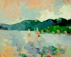NEW. A Sail off Sutton Island 14 x 16 inch print by HenryIsaacs