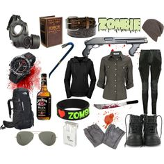 """Another zombie outfit"" by hereticpride on Polyvore"
