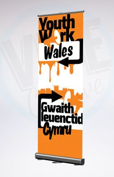 Youth Work in Wales logo design & banners.