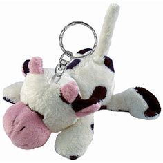 Cow Plush Keychain Stuffed Animal by Puzzled