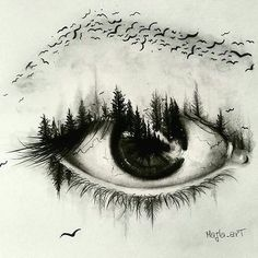 Super creative eye drawing by creative drawing ideas, creative artwork, creative sketches Amazing Drawings, Cool Drawings, Drawing Sketches, Beautiful Pencil Drawings, Drawing Pictures, Artwork Pictures, Sketching, Realistic Eye Drawing, Drawing Eyes