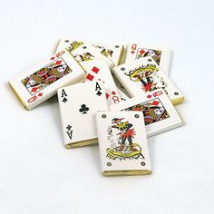 Belgian Chocolate Playing Cards @confettiwedding