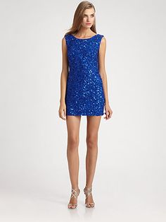 ABS - Sequined Dress - Saks.com
