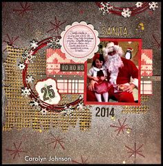 Ramblings of a Winnipeg Mommy: Tiny Tots Santa Layout. DCWV: Home for Christmas Stack.