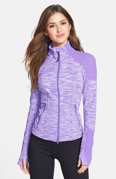 Space Eclipse Zella 'Power' Eclipse Space Dye Jacket available at Sport Fashion, Fitness Fashion, Nightgown Pattern, Estilo Fitness, Outdoor Fashion, Sporty Outfits, Active Wear For Women, Athletic Wear, Workout Wear