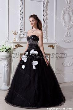 e4e3766b8b7 1st-dress.com Offers High Quality Black and White Pretty Quinceanera Dress  2013 with