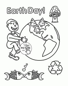 very happy earth day coloring page for kids coloring pages printables free wuppsy