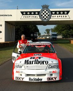 Peter Brock. Great Australian Racing Car Driver.