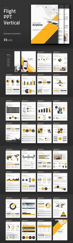 #presentation #template from Good Pello | DOWNLOAD: https://creativemarket.com/alecwang1103/708175-Flight-PPT-Vertical?u=zsoltczigler